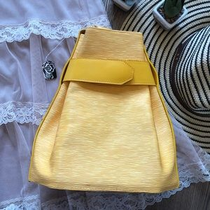 NWT Unique Yellow Bag w/ Wallet